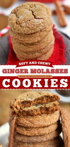 Looking for Christmas in July recipes? Learn how to make Ginger Molasses Cookies! Soft and chewy with a ton of spice, these delicious Christmas cookies are an irresistible dessert idea. Save this pin! Soft Ginger Cookie Recipe, Soft Ginger Cookies, Ginger Molasses Cookies, Cookies Soft, Healthy Dessert Options, Easy Desserts, Delicious Desserts, Dessert Recipes, Yummy Food