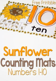 Free Sunflower Counting Mats from Life Over Cs