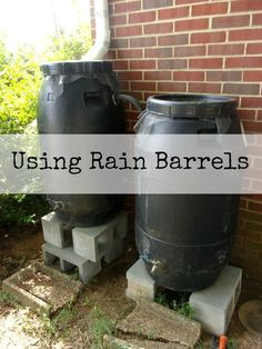 Using rain barrels