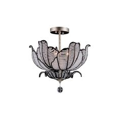 Allegri Tiepolo Silver Leaf & Sienna Bronze Three-Light Flush Mount... ($1,258) ❤ liked on Polyvore featuring home, lighting, ceiling lights, flower lights, bronze lighting, flower chandelier, silver leaf chandelier and colored lights
