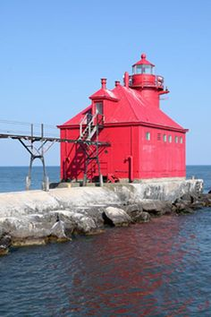 Sturgeon Bay Canal North Pierhead Light north pier of the southern entrance to theSturgeon Bay Ship Canal Door County Wisconsin US44.791944, -87.309444