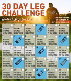 It's the best 30 Day Leg Challenge. Feel the burn!