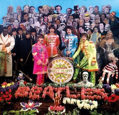 The history of The Beatles – albums, singles, life events of John Lennon, Paul McCartney, George Harrison and Ringo Starr. Ringo Starr, Paul Mccartney, John Lennon, Great Bands, Cool Bands, Sgt Pepper Cover, Pop Art, Beatles Sgt Pepper, Die Beatles