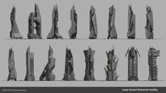 ArtStation - Research Building ideation, Will Burns