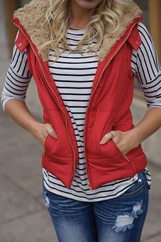 It Takes Two Vest (Red) - Piace Boutique