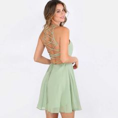 c19f00ae91a LAUREN LACE-UP BACKSIDE DRESS Mini Club Dresses