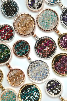 Glitter and sparkle this Summer with Rock Crystal Nikki LIssoni coins! Aztec Designs, Coin Pendant, Jewelry Collection, Jewerly, Jewelry Watches, Sparkle, Pendants, Crystals, Silver