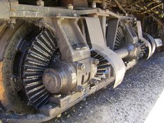 Gear Train, Train Truck, Diesel Locomotive, Steam Locomotive, Train Posters, Railroad Pictures, Railroad Photography, Old Trains, Train Pictures