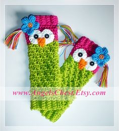 New crochet baby girl owl leg warmers ideas Crochet Leg Warmers, Crochet Boot Cuffs, Baby Leg Warmers, Crochet Boots, Crochet Gloves, Crochet Slippers, Crochet For Kids, Crochet Baby, Knit Crochet