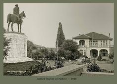 Atatürk heykeli ve Halkevi 1935  #Bursa #EskiBursa