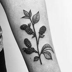 blackberry arm tattoo