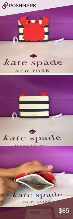 🦀NWT Kate Spade Carr holder🦀 Adorable Kate Spade card holder 😍 Brand new with tags *reasonable offers will always be considered kate spade Accessories Key & Card Holders