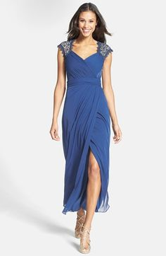 Alex Evenings Embellished Cap Sleeve Gown available at #Nordstrom #motherofthebride