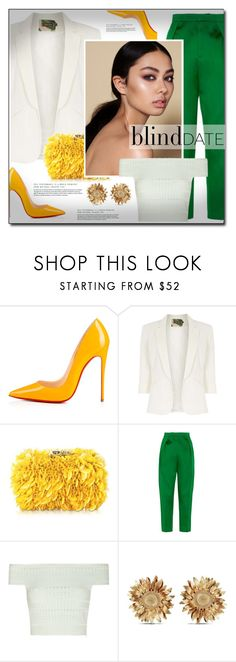 """""""Blind Date"""" by littlefeather1 ❤ liked on Polyvore featuring Christian Louboutin, Jolie Moi, Corto Moltedo, Maison Rabih Kayrouz, Alexander McQueen, Asprey, Spring, topsets, polyvoreeditorial and blinddate"""