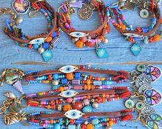 Boho bracelet Ethnic Tribal bracelet Hippie Silver tag | Etsy Tribal Bracelets, Jewelry Bracelets, Jewellery, Gypsy Bracelet, Shell Bracelet, Personalized Bracelets, Handmade Bracelets, Beaded Rings, Leather Fringe