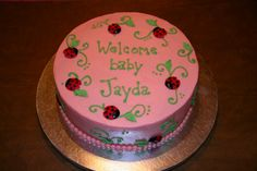 Lady bug cake for baby shower