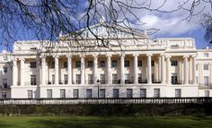 Cumberland Terrace is on the East side of Regent's Park in London. Description from photographer247.com. I searched for this on bing.com/images Regents Park London, Carlton House, John Nash, Grand Homes, Parking Design, Chateaus, East Side, Exterior Design, Castles