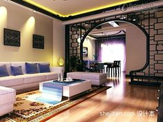 CHINESE STYLE INTERIORS | Chinese-style living room, Chinese style living room design, Chinese ...