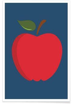 The Red Apple Poster als Premium Poster von And I Love You She Said | JUNIQE