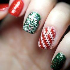 Christmas Nailart 2014 www.nailingtons.com #nailart #christmas #nailingtons #candycane