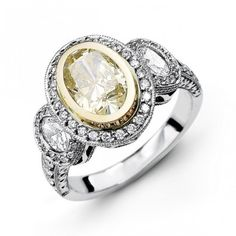 14K White Gold Halo Style Diamond Engagement Ring 0.37 ct rd 0.44 ct