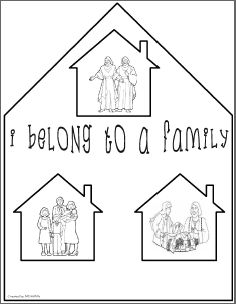 I Belong To A Family File Folder Game Family Coloring Pages Bible Crafts Bible Class