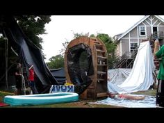 The Ultimate Backyard Waterslide Homemade Water Slide Giant Water Slide Cool Water Slides