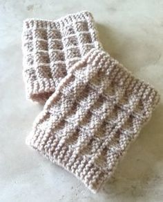 Two Needle Boot Toppers | AllFreeKnitting.com
