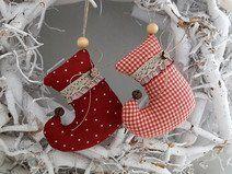 Weihnachtsbaumschmuck  Stiefel Landhaus