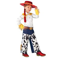 Buy Toy Story Jessie Cowgirl Cosplay Costume Halloween Uniform Hat Suit Dress Outfit at online store Cowgirl Costume, Costume Hats, Dress Up Costumes, Girl Costumes, Costume Ideas, Disney Costumes, Jessie Toy Story Costume, Jessie Costumes, Toy Story Costumes