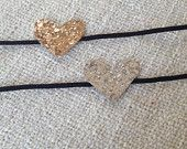The Genevieve: Mini Glitter Hearts in Gold and Silver!