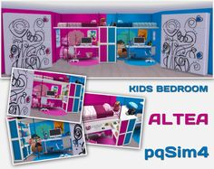 Sims 4 CC's - The Best: Kidsroom by pqsim4