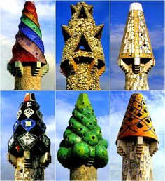 Palacio Güell - Céramique - Cheminées du Palais Güell à Barcelone - Architecte Antoni Gaudí