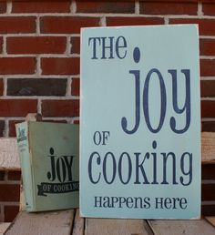 the joy of cooking - kitchen,staff fav's signs - Wall Decor from Barn Owl Primitives Kitchen Signs, Kitchen Art, Kitchen Redo, Kitchen Backsplash, Country Kitchen, Kitchen Tools, Kitchen Ideas, Joy Of Cooking, Cooking Tips