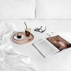 All treat, no tricks via Flat Lay Photography, Beauty Photography, Book Flatlay, Instagram Feed Ideas Posts, Feed Goals, Rose Gold Marble, Photo Images, Coffee Pictures, Flatlay Styling