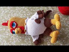 Como Tejer Gallo Bartolito Amigurumi Crochet - Paso A Paso - Croché - Easter Crochet, Knit Or Crochet, Crochet Gifts, Crochet Stitches, Crochet Baby, Crochet Skirt Pattern, Crochet Animal Patterns, Stuffed Animal Patterns, Crochet Animals