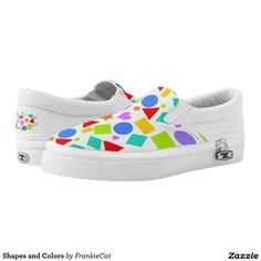 Shapes and Colors Printed Shoes