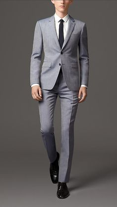 Burberry London Slim Fit Wool Linen Suit