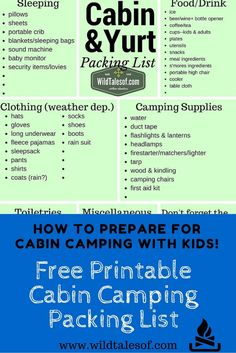 How to Prepare for Cabin Camping with Kids - wildtalesof.com