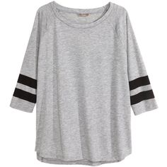 H&M HM+ Top with raglan sleeves (€5,24) ❤ liked on Polyvore featuring tops, shirts, blusas, plus size, grey, gray top, raglan sleeve shirts, grey shirt, h&m shirts and plus size tops