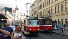 5 Tram Approaching Namesti Republiky Stop, Prague