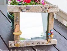 FantaSea - Made by Natassa Klavdianou Driftwood Mirror, Mirrors, Table, Furniture, Home Decor, Decoration Home, Room Decor, Tables, Home Furnishings