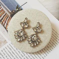 elegant crystal wedding bridal earring drops