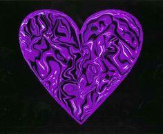 Shiny Purple Heart by Larry Singer My Heart, Heart Ring, Larry, Singer, Artwork, Prints, Purple Hearts, Color, Work Of Art