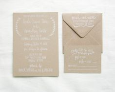 Wedding Invitation Stamp Suite  Wedding Invitation by papersushi, $90.00