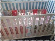 DIY Crib Bumper Pattern Tutorial 6 Piece  Easy to Make by beffie48