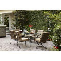 Shop Garden Treasures Eastmoreland 38 In X 64 In Steel Rectangular Patio  Dining Table