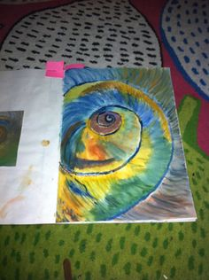 This is a watercolour painting copied from a photograph of a shell with was found on google images- by L.A.Laws