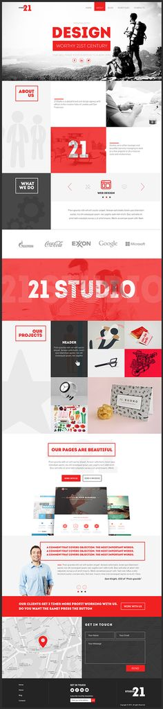 https://www.behance.net/gallery/24158201/21-Studio-Creative-One-Page-Template  By: Creative Web Themes