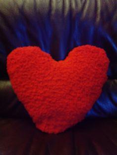 Kussen voor Valentijn,  gebreid met Birba wol